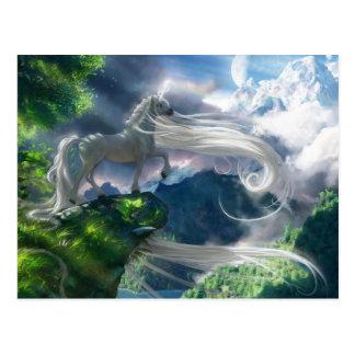 Acantilado del unicornio tarjetas postales