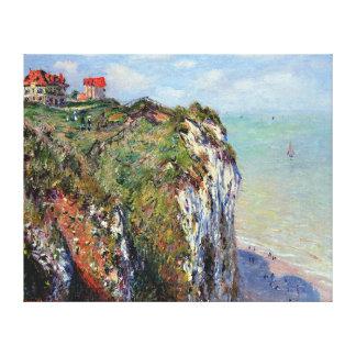 Acantilado en Dieppe, por Claude Monet Impresión En Lienzo