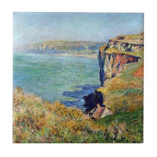 Acantilado en Grainval de Claude Monet Azulejo Cuadrado Pequeño