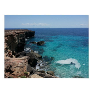 Acantilado hermoso y paisaje del océano posters