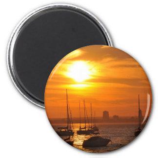 Acantilado NY del mar Imán Redondo 5 Cm