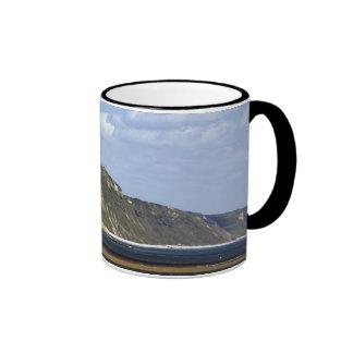 Acantilados a lo largo de la costa jurásica taza de café