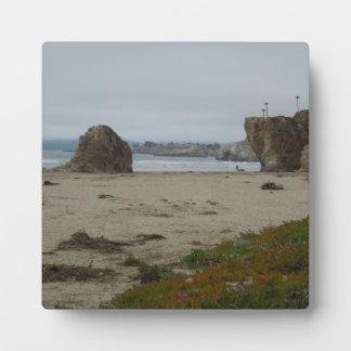 Acantilados a lo largo de la línea de la playa de  placas con fotos
