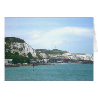 Acantilados blancos de Dover, Inglaterra Tarjeta De Felicitación