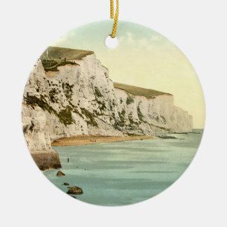 Acantilados blancos de Dover, Kent, Inglaterra Ornamento Para Arbol De Navidad