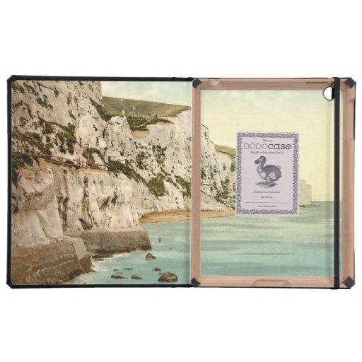 Acantilados blancos de Dover, Kent, Inglaterra iPad Protectores
