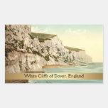 Acantilados blancos de Dover, Kent, Inglaterra Pegatina Rectangular