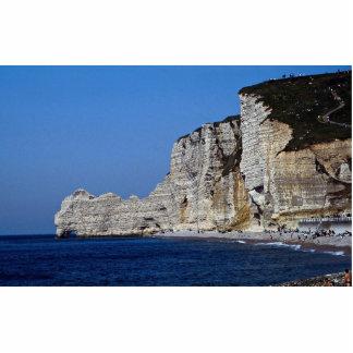 Acantilados blancos en la costa de Normandía, Fran Fotoescultura Vertical