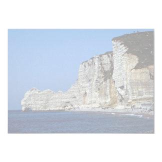 Acantilados blancos en la costa de Normandía, Invitación Personalizada
