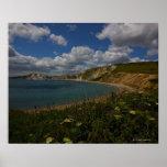 Acantilados costeros y paisaje impresiones