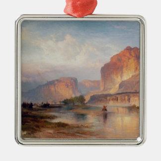 Acantilados de Green River - 1874 Adorno Navideño Cuadrado De Metal