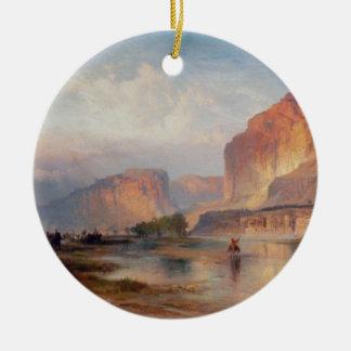 Acantilados de Green River - 1874 Adorno Navideño Redondo De Cerámica