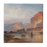 Acantilados de Green River - Thomas Moran (1874) Azulejo Ceramica