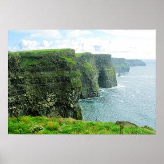 Acantilados de Moher, condado Clare, Irlanda Poster