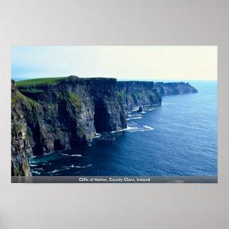 Acantilados de Moher, condado Clare, Irlanda Posters
