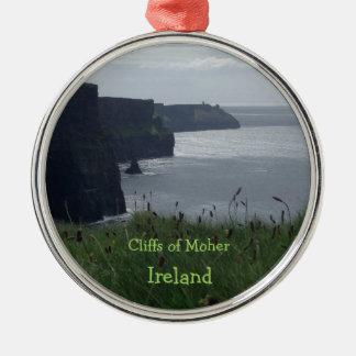 Acantilados de Moher Irlanda - ornamento irlandés Adorno Navideño Redondo De Metal