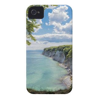 Acantilados de tiza en la isla Ruegen en Alemania Case-Mate iPhone 4 Cárcasas