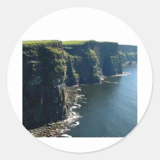 Acantilados del condado Clare Irlanda de Moher Pegatina Redonda