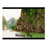 acantilados del halong tarjeta postal