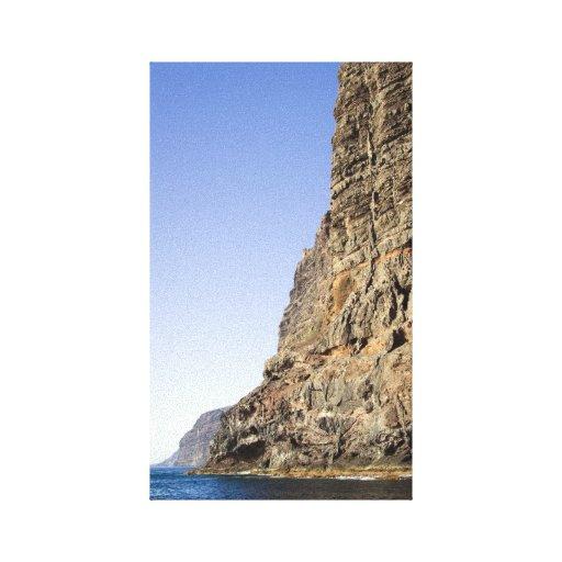 Acantilados del Los Gigantes en Tenerife Impresiones En Lienzo Estiradas