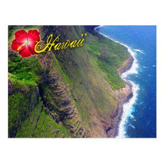 Acantilados del mar en Molokai, Hawaii Postales