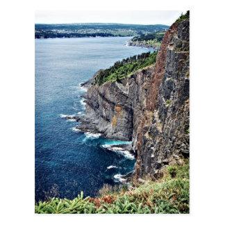 Acantilados del océano - Terranova, Canadá Tarjeta Postal
