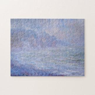 Acantilados en la bella arte de Monet de la lluvia Puzzle Con Fotos