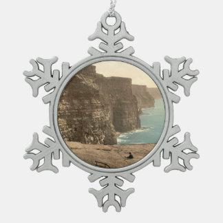 Acantilados en Moher, condado Clare, Irlanda Adorno De Peltre En Forma De Copo De Nieve