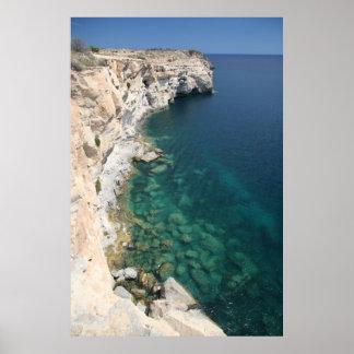 Acantilados - punto del sur de Malta 1 poster