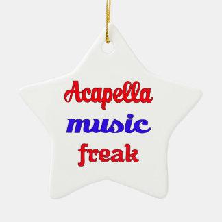 Acapella Music Freak Ceramic Ornament