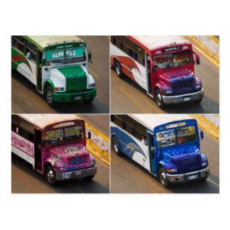 Acapulco buses postcard