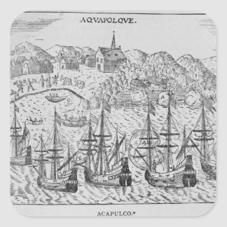 Acapulco', from Jean-Baptiste Labat 's Nouveau Square Sticker