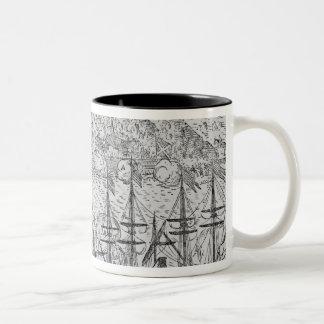 Acapulco', from Jean-Baptiste Labat 's Nouveau Two-Tone Coffee Mug
