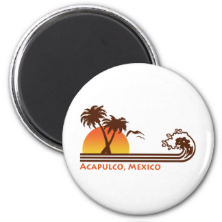 Acapulco Mexico 2 Inch Round Magnet