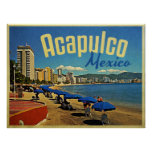 Acapulco Mexico Vintage Travel Poster
