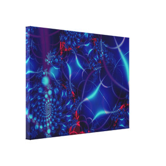 Acara azul estiró la impresión de la lona impresión en tela