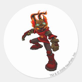 Acara Moltara Player Classic Round Sticker