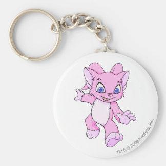 Acara Pink Basic Round Button Keychain