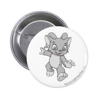 Acara Silver 2 Inch Round Button