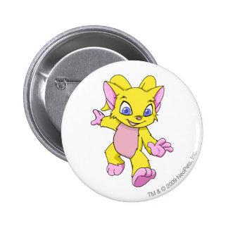 Acara Yellow 2 Inch Round Button