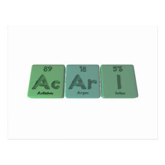 Acari-Ac-Ar-I-Actinium-Argon-Iodine Postcard