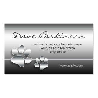 acaricia la tarjeta de visita del cuidado de anima
