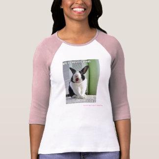 Acaricie a las señoras del conejito del amante 3/4 camisetas