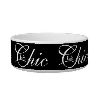 "ACARICIE CHIC_BOWL_ TEXTO BLANCO elegante de los "" Comedero Para Mascota"