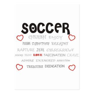 Acaricie el fútbol postales