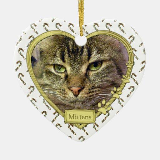 Acaricie el ornamento conmemorativo del navidad de adorno navideño de cerámica en forma de corazón