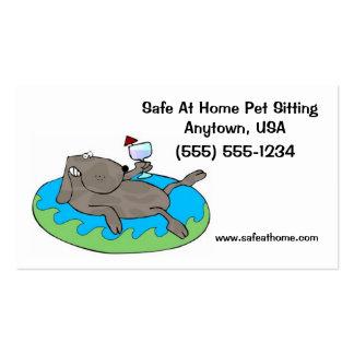 Acaricie el perro de las tarjetas de visita del ca