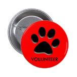 acaricie el refugio, rescate animal, insignia volu pins