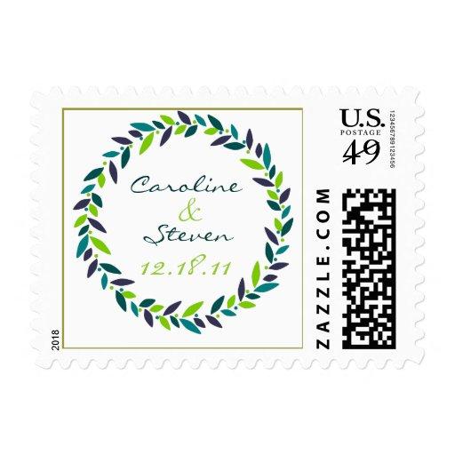 Acaricie el sello de fecha del boda de la guirnald