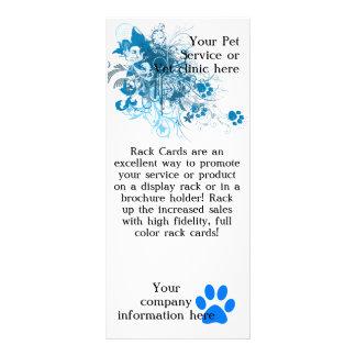 Acaricie el servicio o la tarjeta del estante de l tarjeta publicitaria a todo color